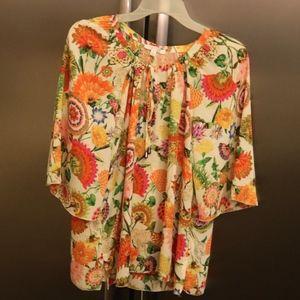Womens spense top floral shirt Large